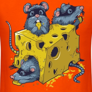 CHEESE & RAT MEN T SHIRT - Men's T-Shirt