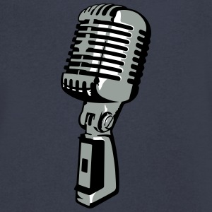 vintage mic T-Shirts - Men's V-Neck T-Shirt by Canvas