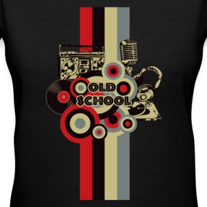 Old School - Women's V-Neck T-Shirt