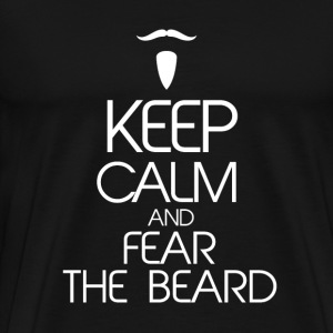 Keep Calm Beard T-Shirts - Men's Premium T-Shirt