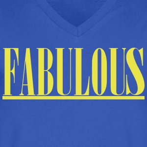 FABULOUS T-Shirts - Men's V-Neck T-Shirt by Canvas