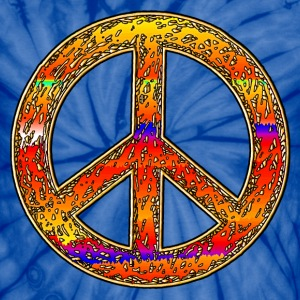 Hippy Rainbow Peace Sign. - Unisex Tie Dye T-Shirt