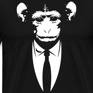 Monkey in a suit with banana Shirt - Men's Premium T-Shirt