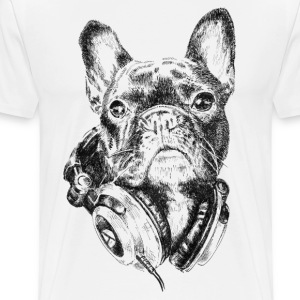 Bulldog The Melomaniac T-Shirts - Men's Premium T-Shirt