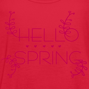 Hello spring Women's Flowy Tank Top by Bella - Women's Flowy Tank Top by Bella