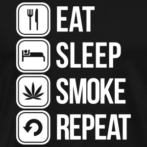 eat sleep smoke repeat T-Shirts - Men's Premium T-Shirt