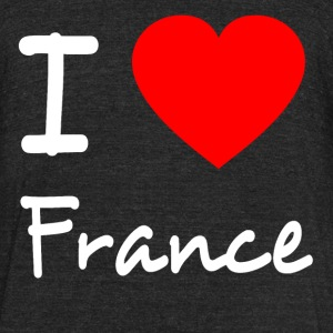 I LOVE FRANCE T-Shirts - Unisex Tri-Blend T-Shirt by American Apparel