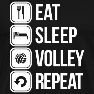 eat sleep volley repeat T-Shirts - Men's Premium T-Shirt