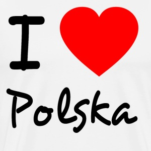 I LOVE POLSKA  - Men's Premium T-Shirt