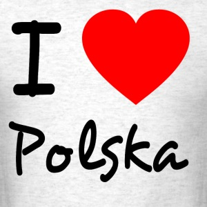 I LOVE POLSKA - Men's T-Shirt