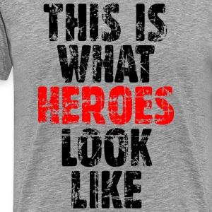 Hero T-Shirt  (Men/Gray/Vintage) Premium - Men's Premium T-Shirt