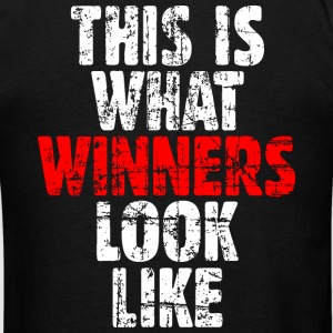 Winner T-Shirt (Black/Vintage) Back - Men's T-Shirt