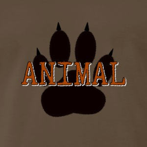 Black Animal Paw Print - Men's Premium T-Shirt