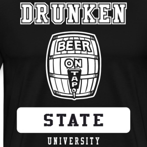 Drunken State University Black T-Shirt - Men's Premium T-Shirt