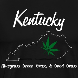 Kentucky Bluegrass, Green Grass, & Good Grass Blac - Men's Premium T-Shirt
