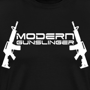 Modern Gunslinger Black T-Shirt - Men's Premium T-Shirt