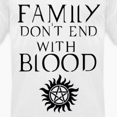 Family don't end with blood Dark T-Shirts