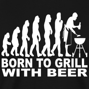 born to grill with beer T-Shirts - Men's Premium T-Shirt