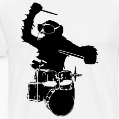 drums monkey T-Shirts