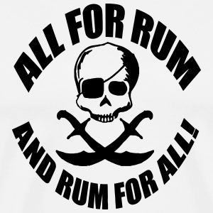 all for rum skull T-Shirts - Men's Premium T-Shirt