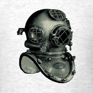 US Navy Mark V Diving Helmet Illustration - Men's T-Shirt