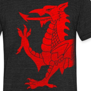 Cymru Dragon T-Shirts - Unisex Tri-Blend T-Shirt by American Apparel