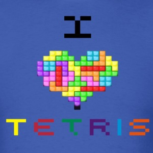 I love Tetris T-Shirts - Men's T-Shirt