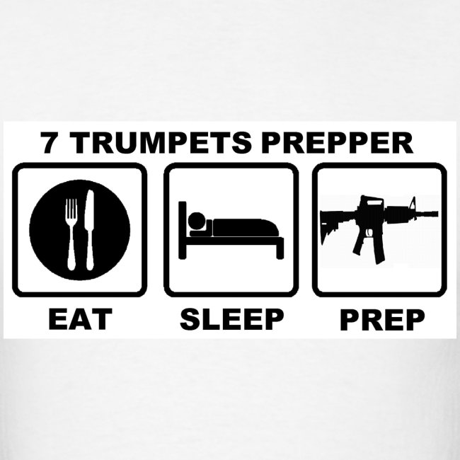 EAT SLEEP PREP (Black print on White) Men's
