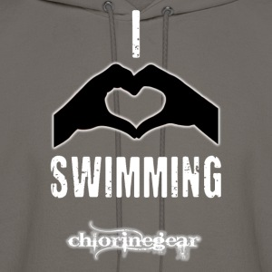 I heart swimming Hoodies - Men's Hoodie