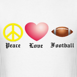 Peace, Love, Football T-Shirts - Men's T-Shirt