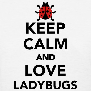 Keep calm and love ladybugs Women's T-Shirts - Women's T-Shirt