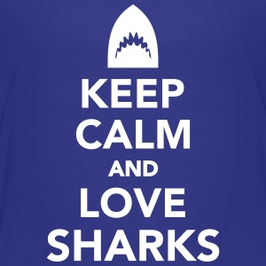 Keep calm and love sharks Kids' Shirts - Kids' Premium T-Shirt