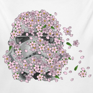 Stormtrooper Helmet with Cherry Blossoms 1 Baby & Toddler Shirts - Long Sleeve Baby Bodysuit