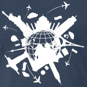 Arround the World No.1 (white dd print) T-Shirts - Men's Premium T-Shirt