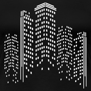 City Skyline by Night Women's T-Shirts - Women's Premium T-Shirt