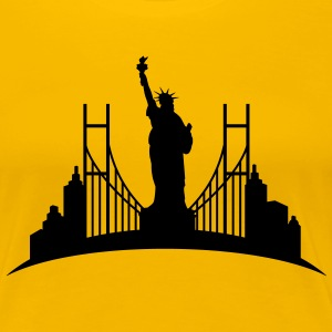 Liberty_statue_New_York_0 Women's T-Shirts - Women's Premium T-Shirt