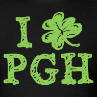 Design ~ I Love Pittsburgh St. Patrick's T