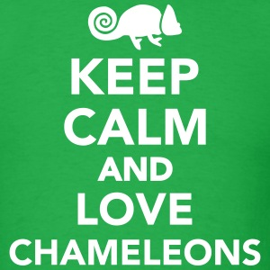 Keep calm and love chameleons T-Shirts - Men's T-Shirt