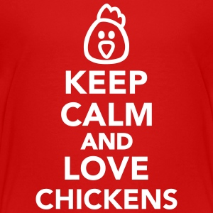 Keep calm and love chickens Kids' Shirts - Kids' Premium T-Shirt