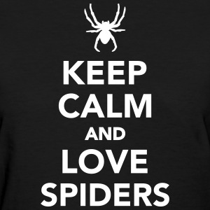 Keep calm and love spiders Women's T-Shirts - Women's T-Shirt