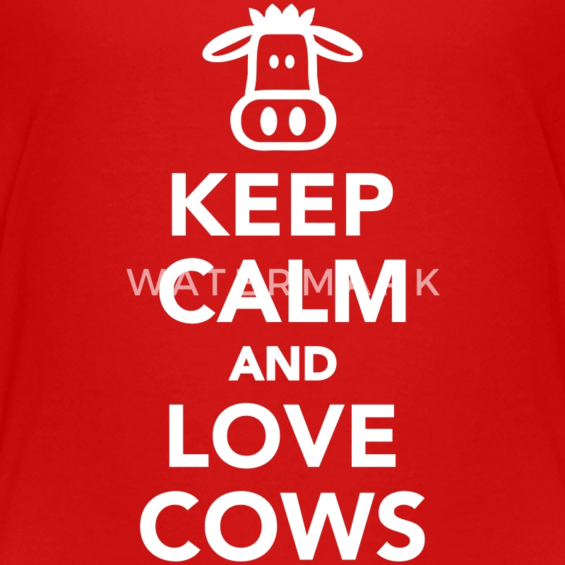 Keep calm and love cows Kids' Shirts - Kids' Premium T-Shirt