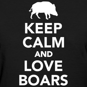 Keep calm and love boars Women's T-Shirts - Women's T-Shirt