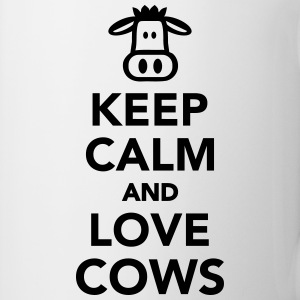 Keep calm and love cows Mugs & Drinkware - Coffee/Tea Mug