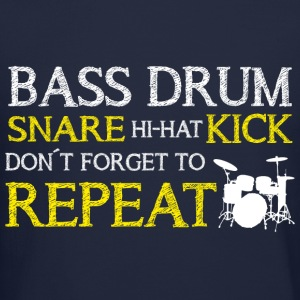Bass Drum Repeat Long Sleeve Shirts - Crewneck Sweatshirt