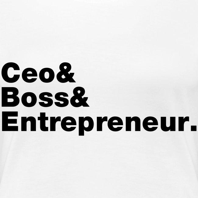Ceo & Boss & Entrepreneur
