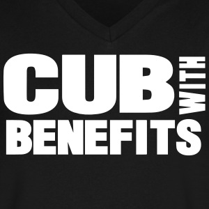 CUB WITH BENEFITS T-Shirts - Men's V-Neck T-Shirt by Canvas