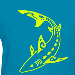 Tribal Shark Women's T-Shirts - Women's T-Shirt