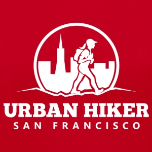 Urban Hiker San Francisco V-Neck T-Shirt - Women's V-Neck T-Shirt