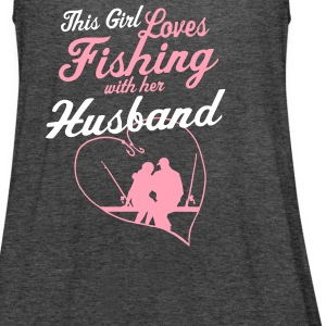 Fishing With Her Husband - Country Closet Tanks - Women's Flowy Tank Top by Bella