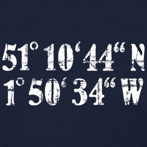 Stonehenge Coordinates T-Shirt (Women Navy/White) - Women's T-Shirt